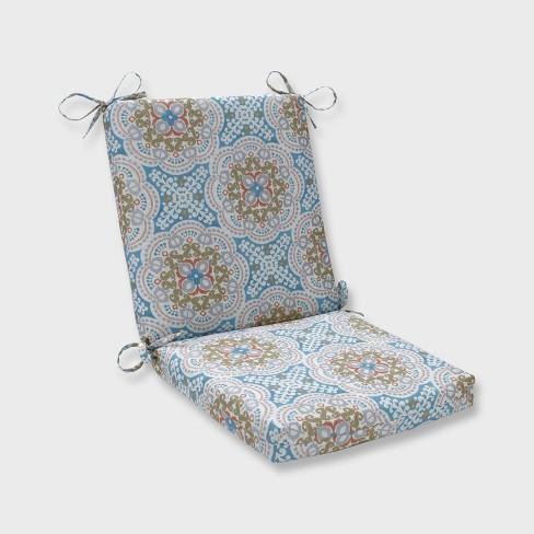 Astrid Squared Corners Outdoor Chair Cushion Aqua Target