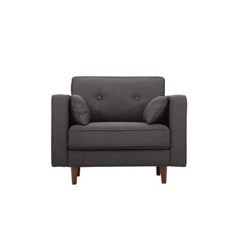 Remarkable Tatiana Mid Century Modern Armchair Lifestyle Solutions Machost Co Dining Chair Design Ideas Machostcouk