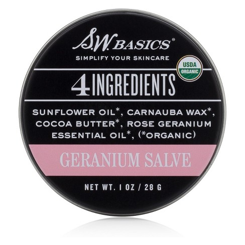 S.W. Basics Rose Geranium Salve - 1oz - image 1 of 2