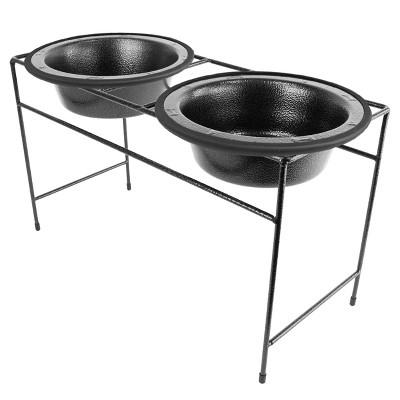 Platinum Pets Modern Double Silver Vein Diner Bowls