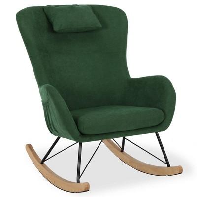 Baby Relax Dartford Rocker Chair with Storage Pockets Green