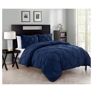 Queen Carmen Comforter Set Navy - VCNY