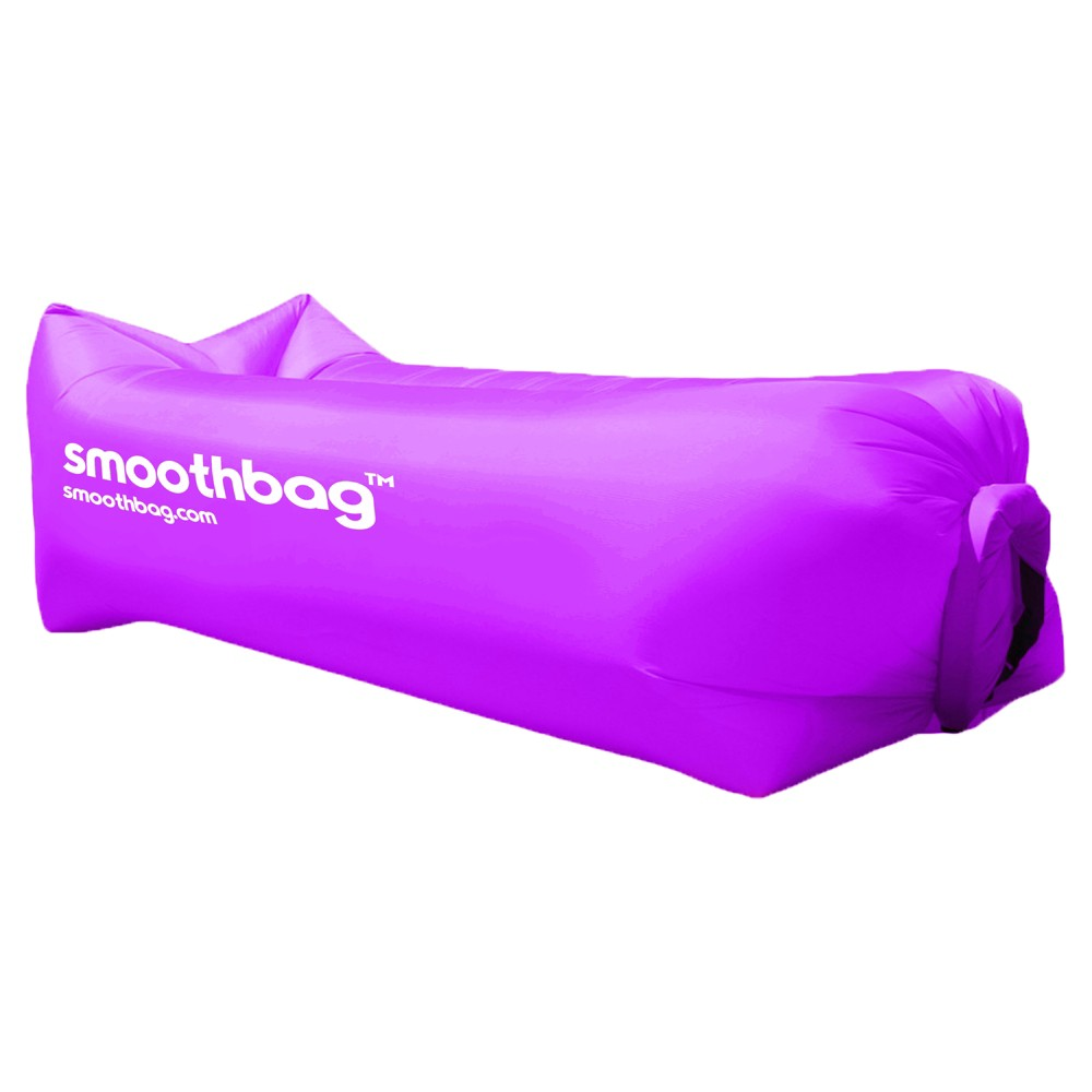SmoothBag Portable Inflatable Pop-Up Lounging Sofa with Built-in Headrest - Purple