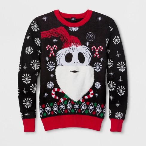 Men's Jack Skellington The Nightmare Before Christmas Long Sleeve Sweatshirt - Ravenwood Black