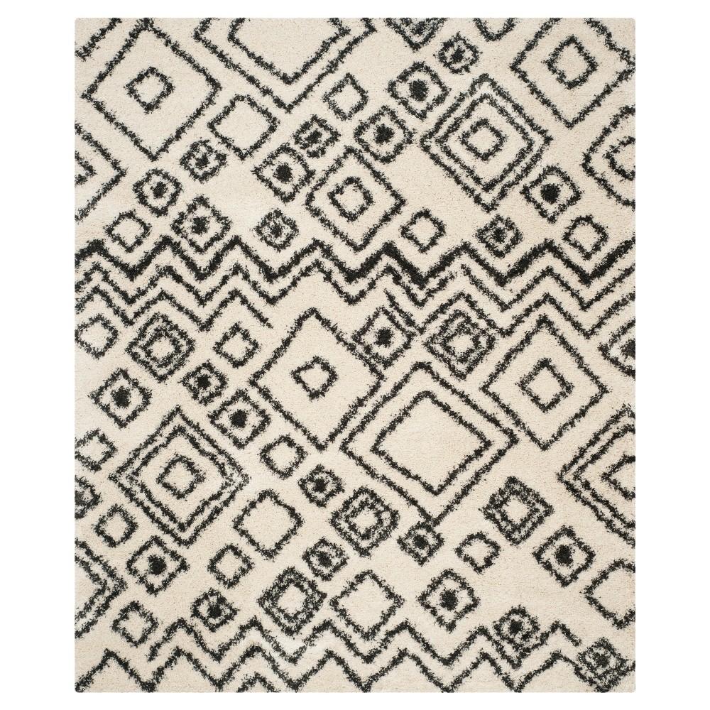 Laney Textured Shag Area Rug - Ivory/Charcoal (8'x10') - Safavieh
