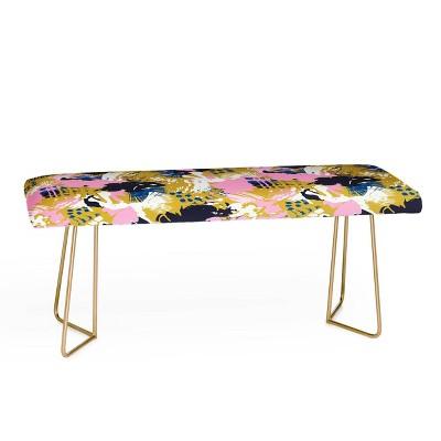 Marta Barragan Camarasa Abstract Brushstrokes Bench - Deny Designs