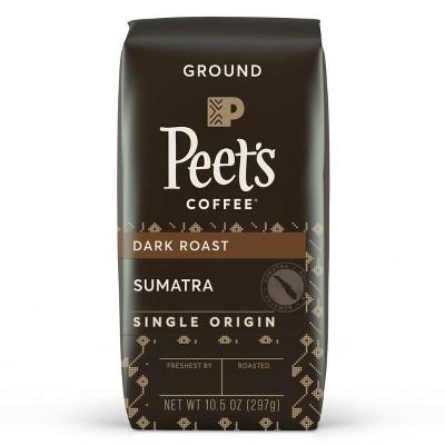 Peet's Sumatra Single Origin Dark Roast Ground Coffee 10.5oz