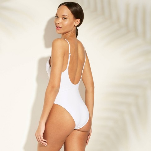 d77f84f7476b4 Women s Bride Scoop Back One Piece Swimsuit - Xhilaration™ White   Target