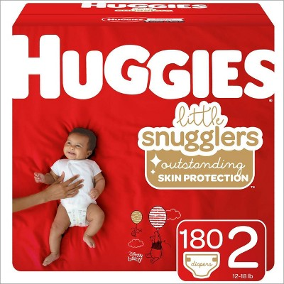Huggies Little Snugglers Diapers - Size 2 (180ct)