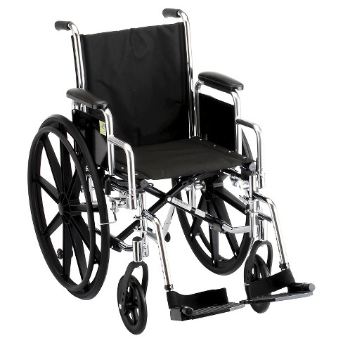 Nova Steel Wheel Chair with Detachable Desk Arms - Black/Silver - image 1 of 1