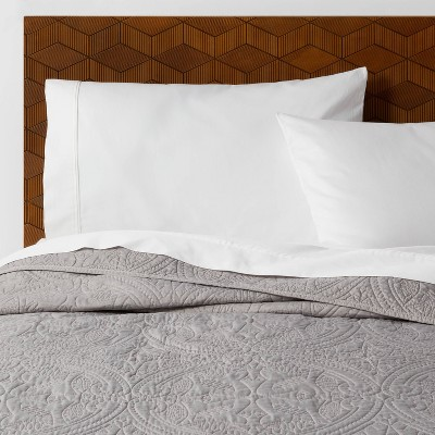 King Stitched Medallion Quilt Gray - Opalhouse™