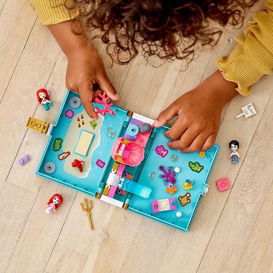 LEGO Disney Ariel's Storybook Adventures Princess Mermaid Building Playset 43176 image number null