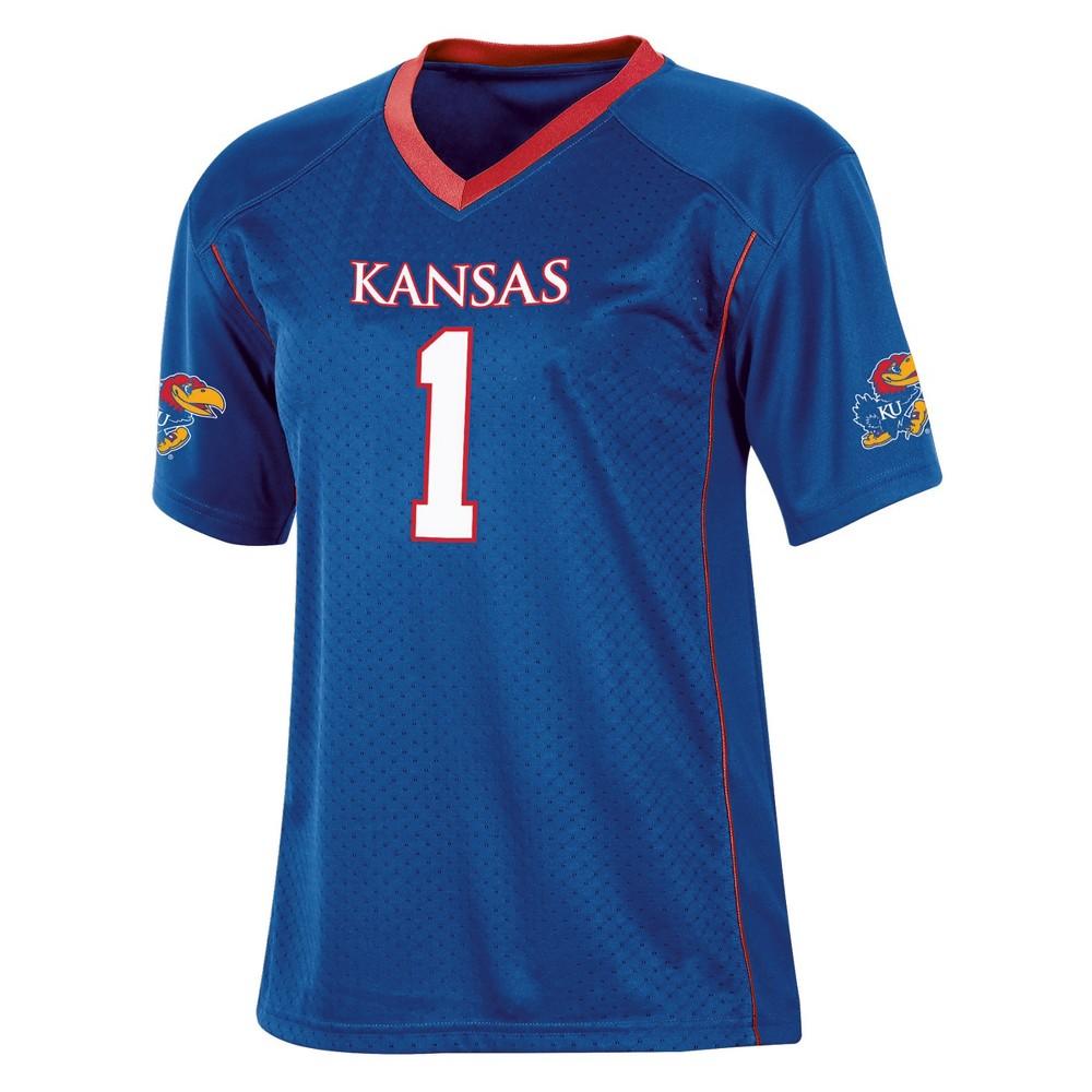 Kansas Jayhawks Boys Short Sleeve Replica Jersey L, Multicolored
