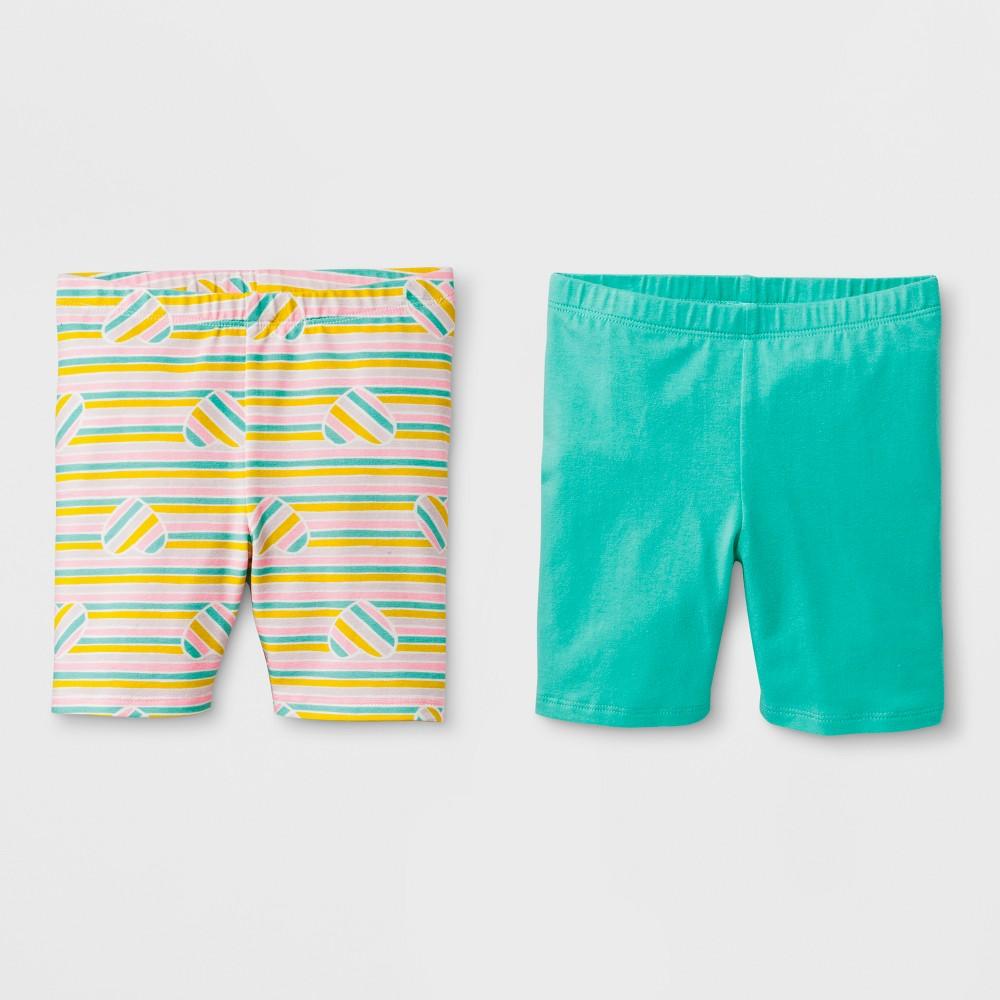 Toddler Girls' Trouser Shorts - Cat & Jack Mint Green 18M, Blue