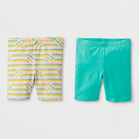 Toddler Girls' Trouser Shorts - Cat & Jack™ Mint Green - image 1 of 1