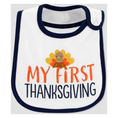 Babys' My First Thanksgiving Bib - Just One You® made by carter's Almond One Size