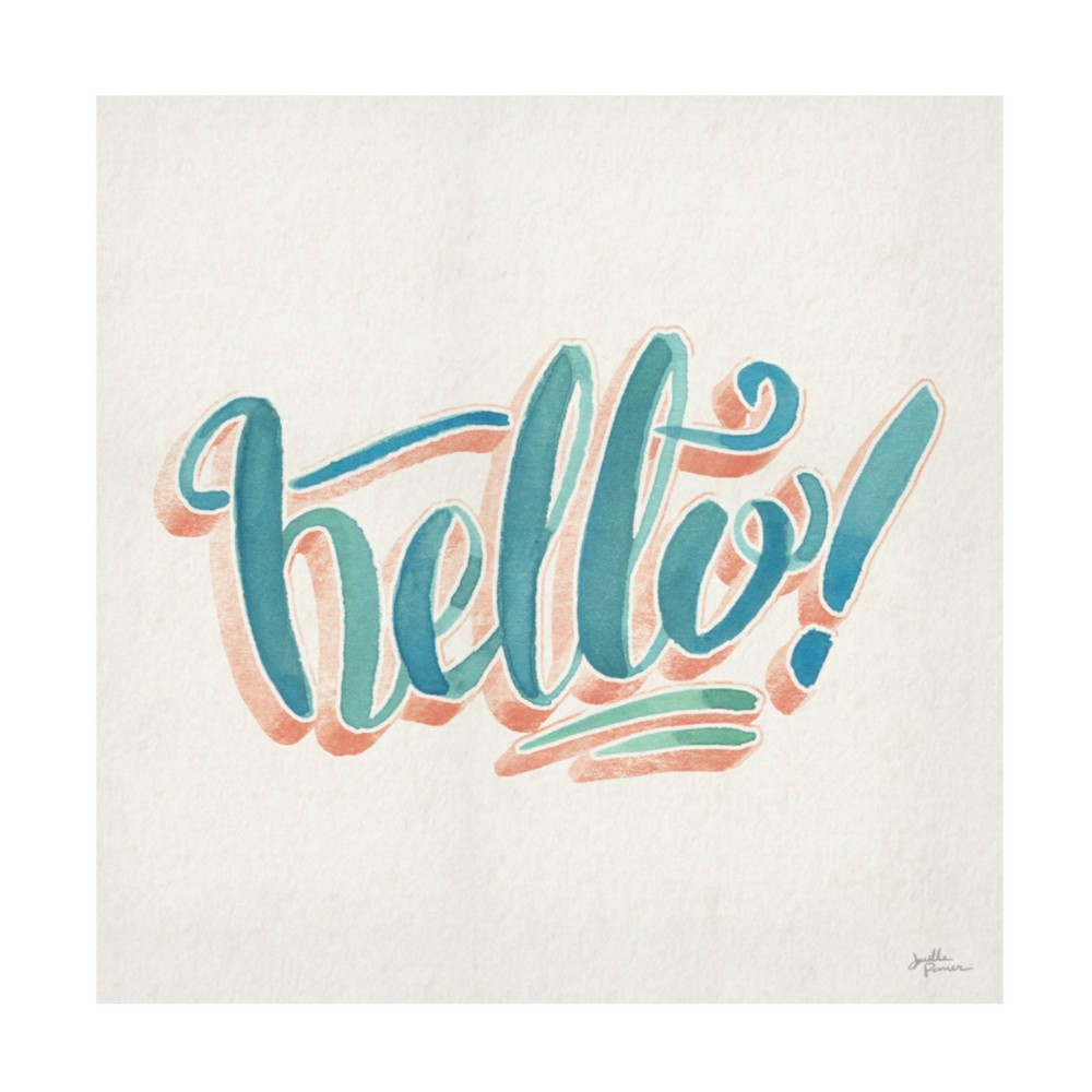 24 34 X 24 34 Janelle Penner 39 Hello 39 Unframed Wall Canvas Trademark Fine Art