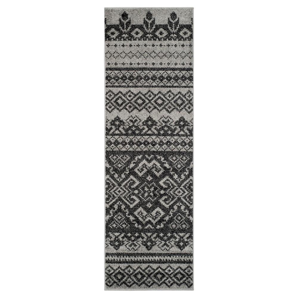 Adron Accent Rug - Silver/Black (2'6x6') - Safavieh