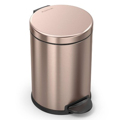 simplehuman 4.5L Round Step Trash Can Rose Gold