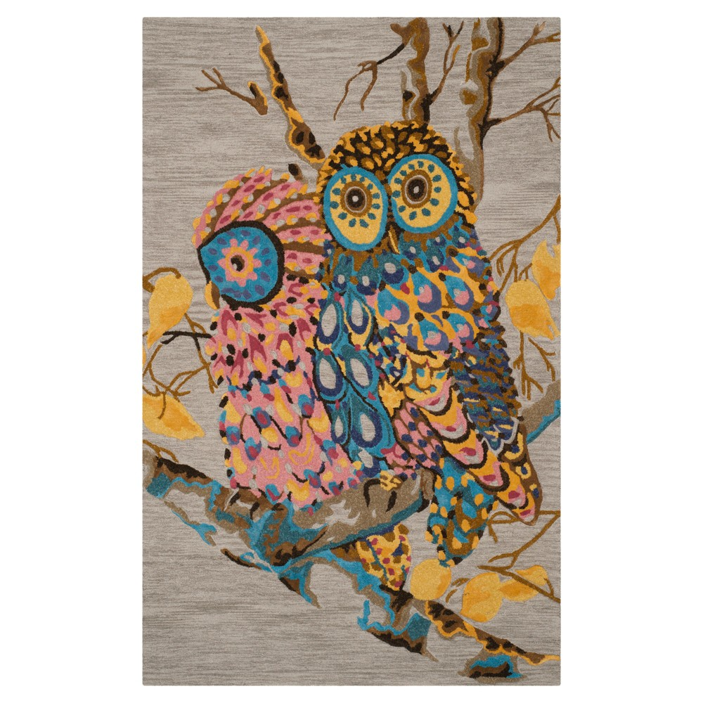 Multi/Gray Animal Print Tufted Area Rug - (8'x10') - Safavieh, Multicolored