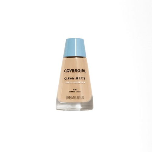 COVERGIRL Clean Matte Foundation 510 Classic Ivory 1 fl oz