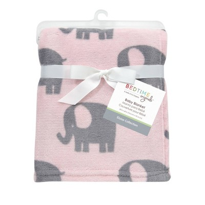 Bedtime Originals Soft Plush Baby Blanket - Eloise Elephant