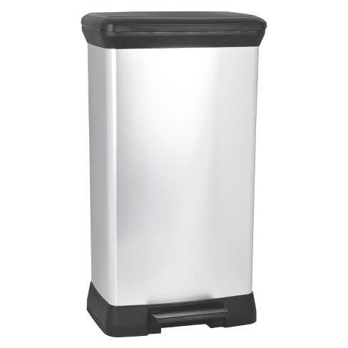 Curver 50 Liter Rectangle Step Open Trash Can Target