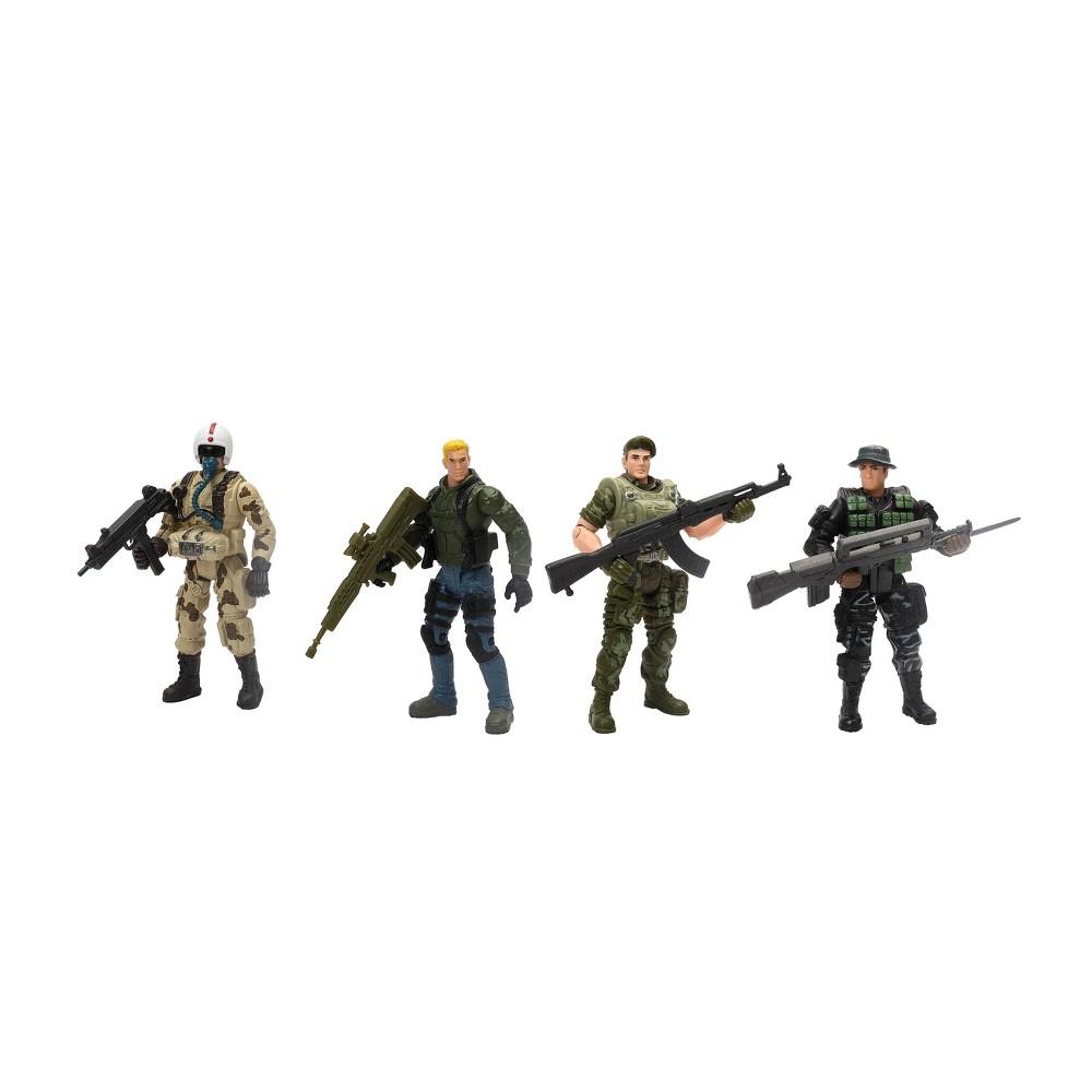 Hero Force Heroes Elite Soldier Action Figures 4pk