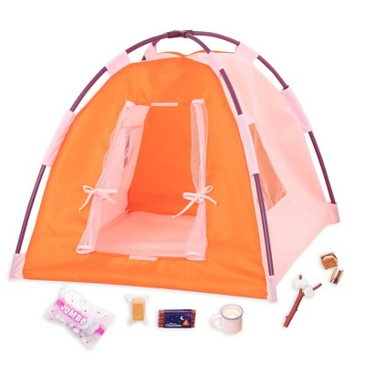 """Our Generation Tent & Camping Set for 18"""" Dolls - All Night Campsite"""