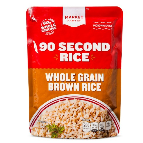 90 Second Rice Whole Grain Brown Rice, 8.8oz - Market Pantry™ - image 1 of 1