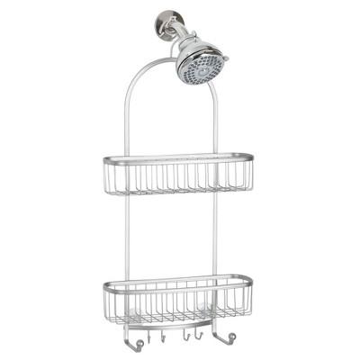 mDesign Large Metal Bathroom Tub/Shower Caddy, Hanging Storage Organizer