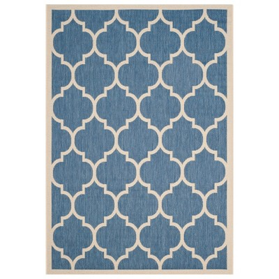 Malaga Rectangle 5'3  X 7'7  Outdoor Rug - Blue / Beige - Safavieh®