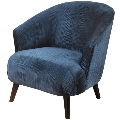 Barrel Back Chenille Lounge Chair Blue - Stylecraft - image 1 of 3