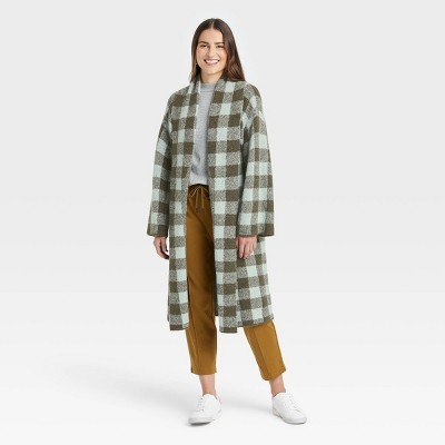 Women's Houndstooth Open-Front Sweater Cardigan - A New Day™