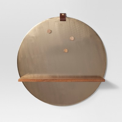 Gold Round Magnetic Wall Shelf 22 X 22 - Project 62™
