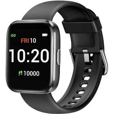 Letsfit  Smartwatch Fitness Tracker with Blood Oxygen Saturation & Heart Rate Monitor, IP68 Waterproof Cardio For iPhone and Android IW1