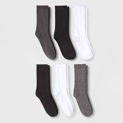 Women's 6pk Crew Socks - A New Day™ 4-10
