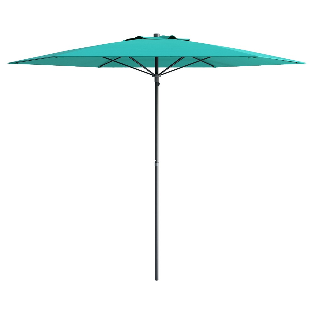 Image of 6' UV and Wind Resistant Beach/Patio Umbrella - Blue - CorLiving, Turquoise