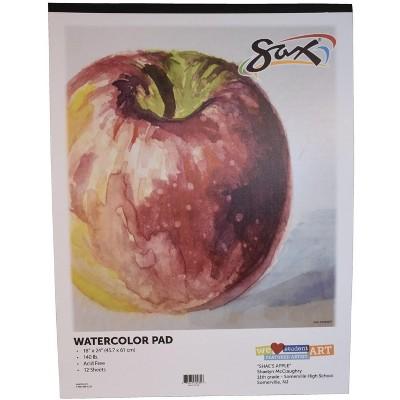 Sax Watercolor Pad, 140 lb, 18 x 24 Inches, White, 12 Sheets