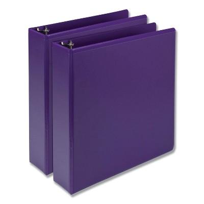 """2pk 450 Sheet 2"""" Round Ring Binder Purple - Samsill"""