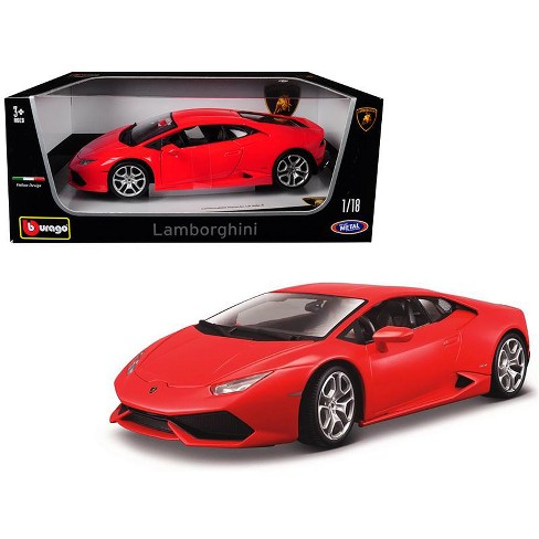 Lamborghini Huracan Lp 610 4 Red 1 18 Diecast Model Car By Bburago