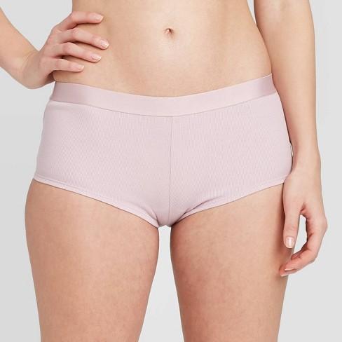 Women's Cotton Rib-Knit Boyshorts - Auden™ - image 1 of 2