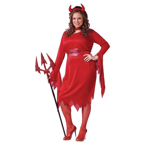 Women s Plus Size Delightful Devil Costume Red 2X   Target 2e69f1125