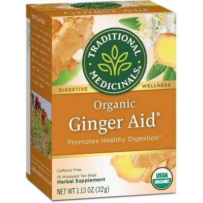 Traditional Medicinals Ginger Aid Tea - 16ct