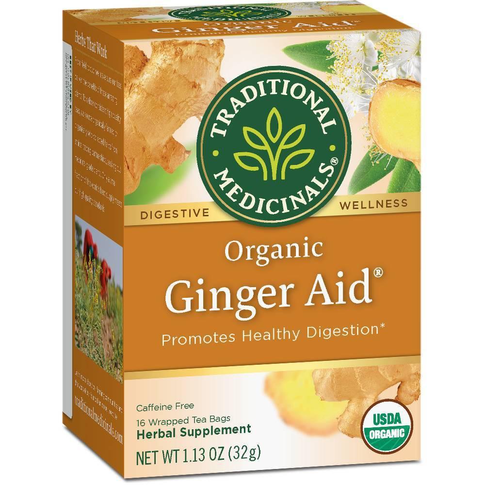 Traditional Medicinals Ginger Aid Tea 16ct