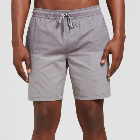 Men's Dos Elastic Waist Board Shorts - Goodfellow & Co™  Black - image 1 of 3