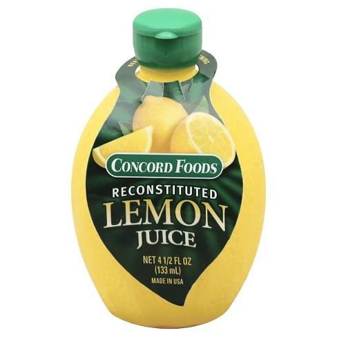 Concord Foods Reconstituted Lemon Juice - 4.5 fl oz - image 1 of 1