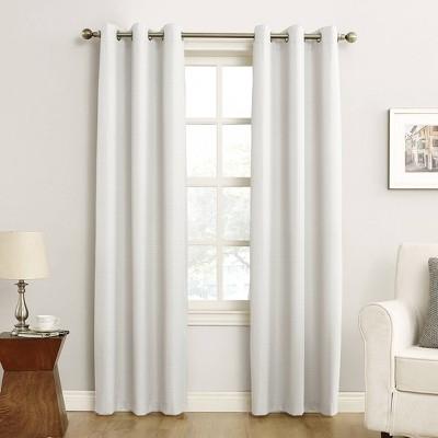 "63""x40"" Cooper Grommet Top Room Darkening Window Curtain Panel White - Sun Zero"
