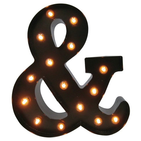 Metal Marquee LED Letter Small - Ampersand - Threshold™ - image 1 of 2