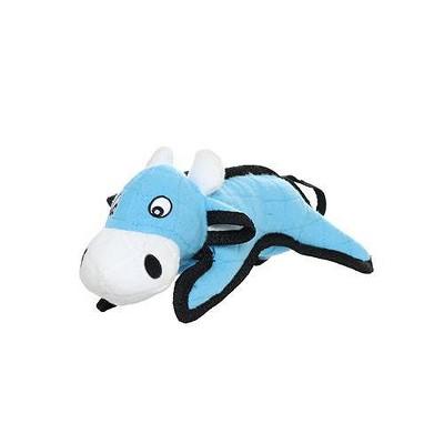 Tuffy Junior Barn Yard Cow Dog Toy - Blue